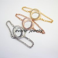Wholesale High quality mm stainless steel magnetic with crylist locket bracelet with chain