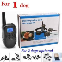 Wholesale 20pcs dog M Rechargeable Waterproof Remote LV Pet Dog Training Bark Stop Collar with LCD Display