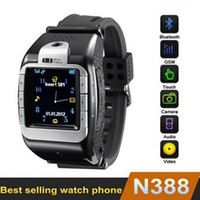 Wholesale Best N388 Smart Watch Phone With MP Spy Camera quot Touch Screen Bluetooth Unlocked Phone Watch Mobile With Two Batteries