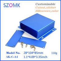 al por mayor carcasa de aluminio szomk-Caja de aluminio del szomk para la caja de ensambladura de la electrónica (1 PC) caja diy del proyecto del recinto de 28 * 104 * 85m m para el perseguidor AK-C-A4 de los gps