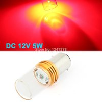 auto glass markers - BAY15D W Red LED Glass Capsule Auto Car Braking Light Cornering Light Courtesy Side Marker Turn Signal