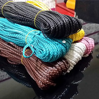 Wholesale DIY mm width Mixed Color Waxed PU leather strands woven flat Cord Rope For Bracelet Necklace jewelry making m
