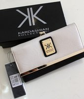 Wholesale 2015 New Kardashian kollection long design kk Purse women s wallets Clutch hitting buckle rivet wallet Bank cards handbag Storage bag