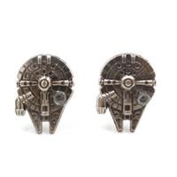 Wholesale Star Wars Spaceship model Cuff Links Men s Cufflinks for shirt wedding cufflink best gift Cufflink Hot Selling C064