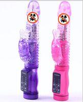 G-Spot Vibrators rabbit vibrator - 12 Speeds Vibrating G Spot Jack Rabbit Vibrators Body Massager Women Sex Toys Sex Product for Women Purple Pink Waterproof Vibrators Hot