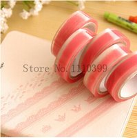 Wholesale 1roll Lace Adhesive tape Masking tape Decorative stickers Stationery for scrapbooking foto School office supplies washi tape