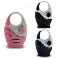 Wholesale Portable Mini Colors AM FM Hanging Shower Listen Bath Bathroom Waterproof Home Speaker Music Radio Gift
