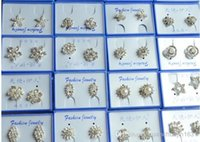 Wholesale 2016 pairs mixed Korean version of the full diamond earrings drop Earings Brand New