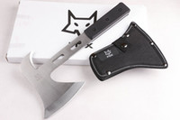 axe pack - Top quality FOX axe mountain cutting hatchet CR13 blade HRC G10 handle outdoor camping axe with nylon sheath retail box packing