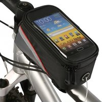 Wholesale Bike Frame Pouch Bicycle Bag For Cell Phone Tube Bag With Earphone Extension Cord OS405