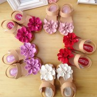 Wholesale 2015 hot new fashion Pu roses breathable Children s sandals shoes color