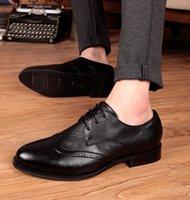 Cheap Lace-Up Men leather shoes Best Men Cotton Bullock England shoes