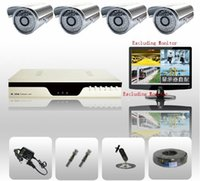 Wholesale DHL High Quality CH Day Night Security Camera System Outdoor CCTV Camera x tvl mini IR Weatherproof CMOS xx