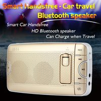 Wholesale Wireless Car Freehand Bluetooth Kit Phone Speaker with High Sound Quality Slim Car Bluetooth Keep Your Driving Safe