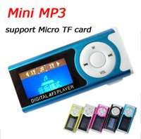 Wholesale Mini Clip MP3 player Metal body with LCD Screen Earphones USB cables Retail box support Micro SD TF card GB GB Sport MP3 popular in EBAY