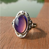 mood rings - Delicate gems mood rings New Hot Creative Gift Lovers