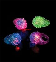 Wholesale LED Light Up Jelly Rings Party Favors Glow Blinking Finger Ring Party Supplies New