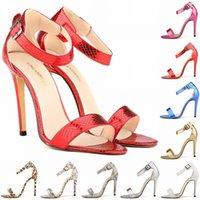 Women alligator sandals - 2015 New Arrival Fashion Women High Heels Sandals Summer Alligator Pumps Shoes Ladies Thin Heels Peep Toe Party Heel Pumps