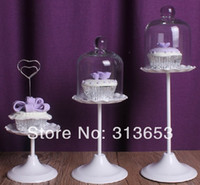 cupcake stand - new cake pan pastry stand with glass dome Clear Glass Mini Domed Cupcake Stand for wedding favors
