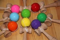 Wholesale Kids toys Colorful cm x cm Kendama Ball Japanese Traditional Wood Game Toy Education Gifts Hot Sale Activity Gifts toys
