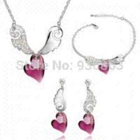 australian steel - Women Accessories Jewelry set Australian crystals Colorful Rhinestone gift for valentine A35B70 E10