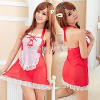angels pajamas - 2014 new Hot Red Vs White Lada Sex Products Porn Angel Dress Sexy Thong Women Nightgowns Pajamas Sleepwear Fashion Apparel Cute