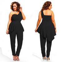 Wholesale New Fashion Women Sexy Chiffon Peplum Jumpsuit Cute Romper Playsuit Overall Vestidos plus size L XL SJ0032
