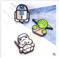 Wholesale DIY Manual Material PVC Accessories star wars Darth Vader Black Knight Stormtrooper Dolls Mobile Phone Shell Decoration Accessory Dhgate