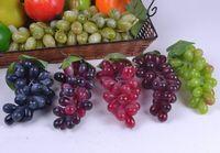decorative fruit - 18CM length Simulation Artificial Plastic Grapes fake Fruit Home Restaurant Decorative Photographic Props Child Education Fruits