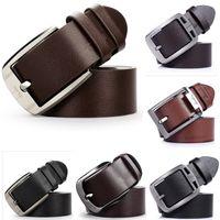 Wholesale Brand free man s fashion metal pin buckle cowskin belt PU leather belts waist belt cintos masculinos de couro for man