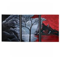 Wholesale Brand New Unframed Hand painted Oil Painting Set Natural Scenery Canvas Print Decoration for Home Beautiful Art Picture order lt no tra