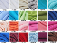 Wholesale NEW Cashmere feeling viscose Solid Shawl Wrap Women s Girls Ladies Scarf Soft Scarf Christmas gift Size cm colors