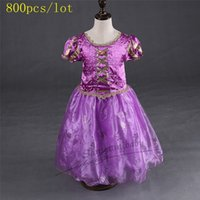 ankle length hair - 1000pcs Samgami Baby Cinderella short sleeve Cotton summer style long hair princess dress in stock Hot sale For Baby girls