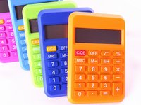 Wholesale 5 color student School Suppliers Calculator Accountant Office Calculate Scientific cute lovely Calculator