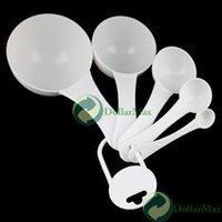 bento cups - Bento Lunch Box Selling Solid Korean Ciq Dishes Dinner Set Talheres New White Kitchen Plastic Measuring Spoons Cup
