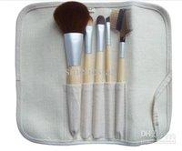 Precio bajo 100pcs / lot NUEVA cepillos del maquillaje de 5 pedazos de bambú del sistema de cepillo