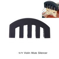 Wholesale 4 Violin Fiddle Mute Silencer Practice Light weight Black Design Violin Parts Accessories Retail