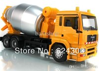 Cheap Free Shipping! 2015 newest ! 1:32 MAN Cement mixer truck alloy Diecast Model the best kids toys