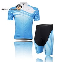 bib material - Original Xintown Cycling Sets Polyester Material Sweat Proof Heat Preservation Cycling Jersey and Gel Bib Pants for Men Blue