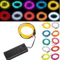 Wholesale Durable Colorful for M EL Wire Tube Rope Battery Powered Flexible Neon Cold Light Car Party Wedding Decoration With Controller