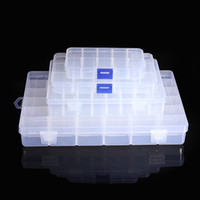 small plastic boxes - 4 Size Slot Clear Electronic Components Storage Organizer Assortment Box Plastic Case Convenience Store Small Items