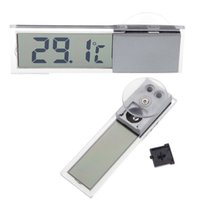 Wholesale Suction Vehicle Car Digital Temperature meter Display Auto Home Household Mirror LCD Display Thermometer