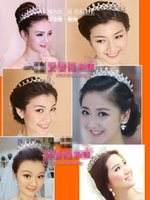 crowns and tiaras - The Bride Adorn Article Korean Crown Headdress Diamond Necklace Crown Hair Tiara And Accessories