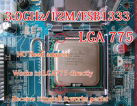 Wholesale For Xeon E5450 GHz M Processor close to LGA775 Core Quad Q9650 CPU works on LGA mainboard no need adapter