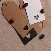 Wholesale 4 cm Kraft Paper Hang Tags Rectangles Flower Head Shape Design For Wedding Party Favor Punch Label Price Gift Cards