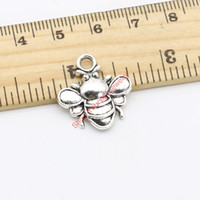 bees crafts - 18pcs Antique Silver Plated Bee Charms Pendants for Jewelry Making DIY Handmade Craft x20mm Jewelry making DIY