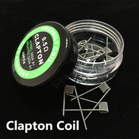 Wholesale High Quality Fused Clapton Coils Mix Twisted Flat Twist Wire Heating Coils DIY Pre made Quad Tiger Alien Hive Round Flat Coils for RDA RBA