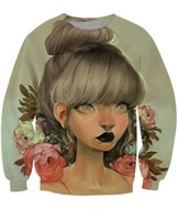 animate jumpers - Ambrosial Crewneck Sweatshirt muted colors and florals Sexy Sweats animated character style Jumper camisolas for women men