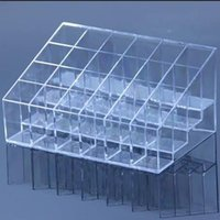 Wholesale 1pc Clear Makeup Lipstick Cosmetic Storage Display Stand Holder DP670148