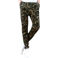 Wholesale S5Q Men Long Casual Jogger Sportwear Baggy Vogue Camouflage Pants Slacks Trouser AAAEVS